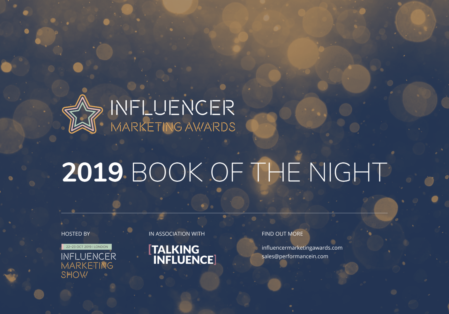 Influencer Marketing Awards Book of the Night