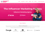 The Influencer Marketing Factory Homepage