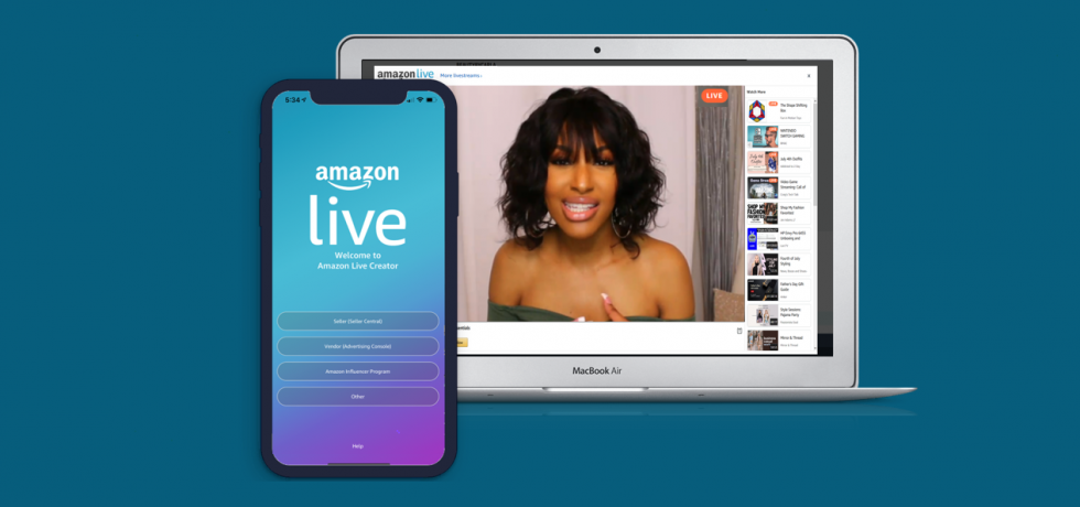 Streaming with Amazon Live is free and self-service through the Amazon Live Creator app.